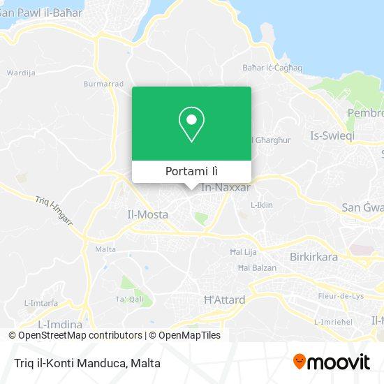 Mappa Triq il-Konti Manduca