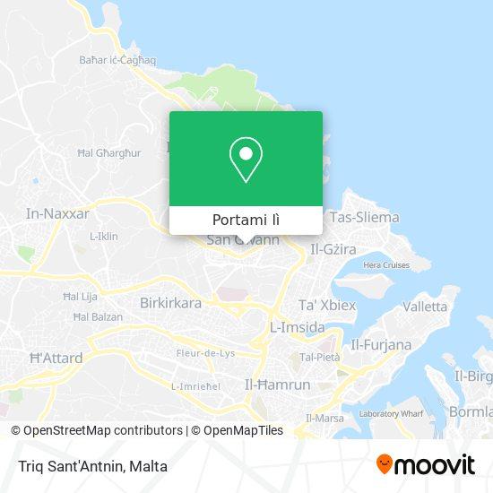Mappa Triq Sant'Antnin