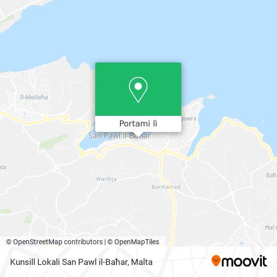 Mappa Kunsill Lokali San Pawl il-Baħar