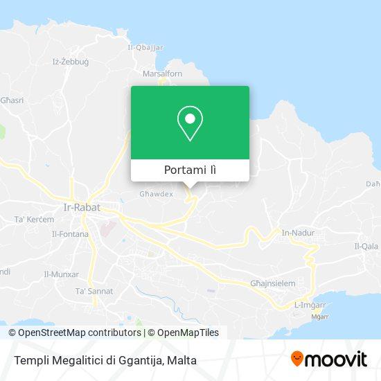 Mappa Templi Megalitici di Ggantija