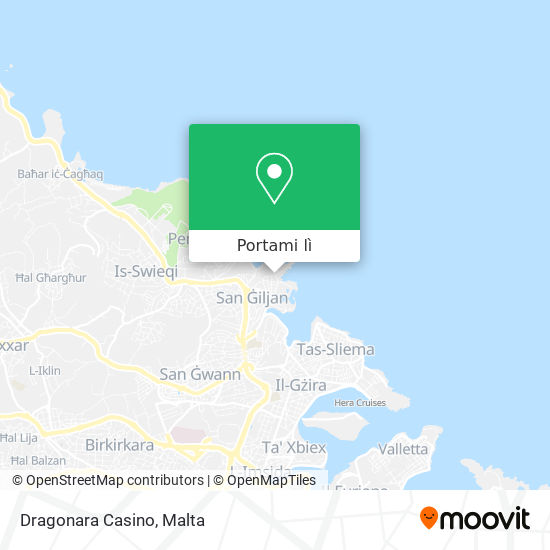 Mappa Dragonara Casino