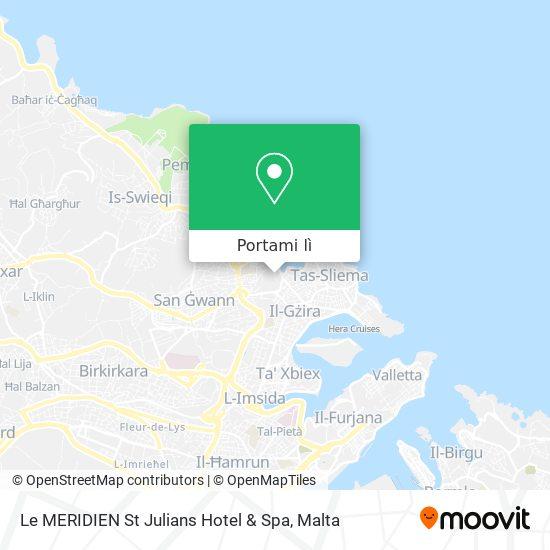 Mappa Le MERIDIEN St Julians Hotel & Spa