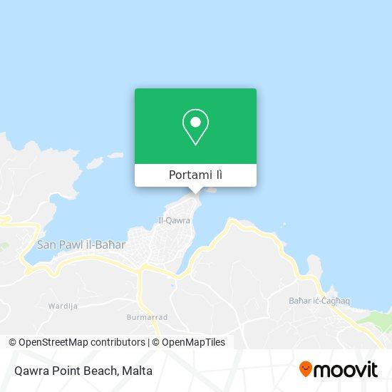 Mappa Qawra Point Beach
