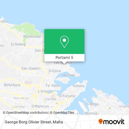 Mappa George Borg Olivier Street