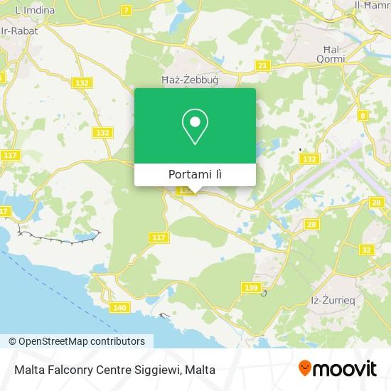Mappa Malta Falconry Centre Siggiewi