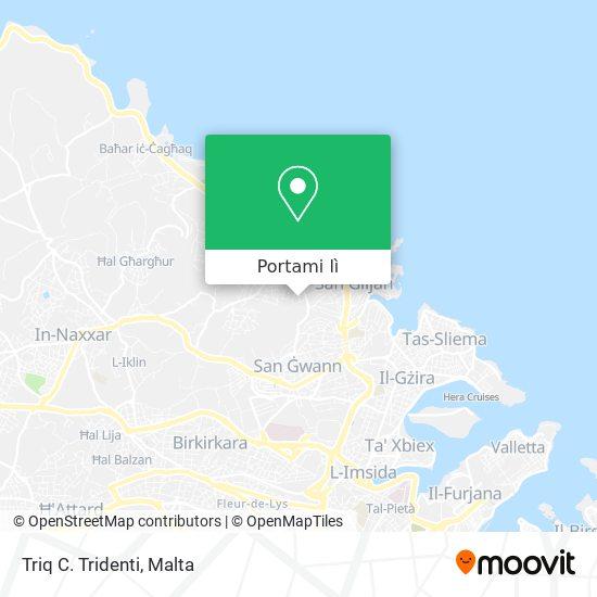 Mappa Triq C. Tridenti