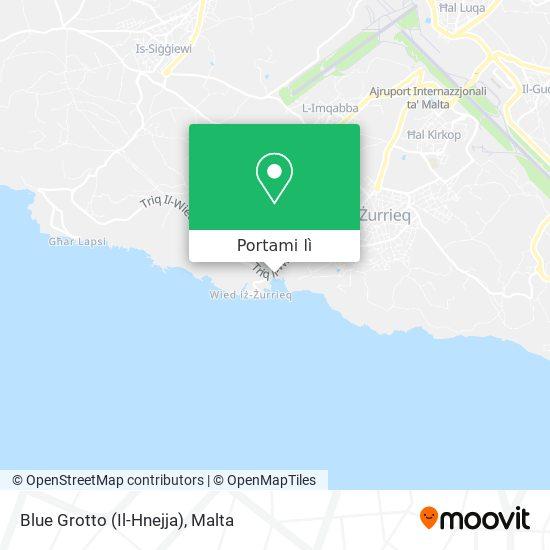 Mappa Blue Grotto (Il-Hnejja)