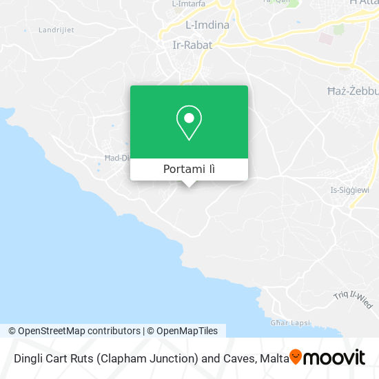 Mappa Dingli Cart Ruts (Clapham Junction) and Caves