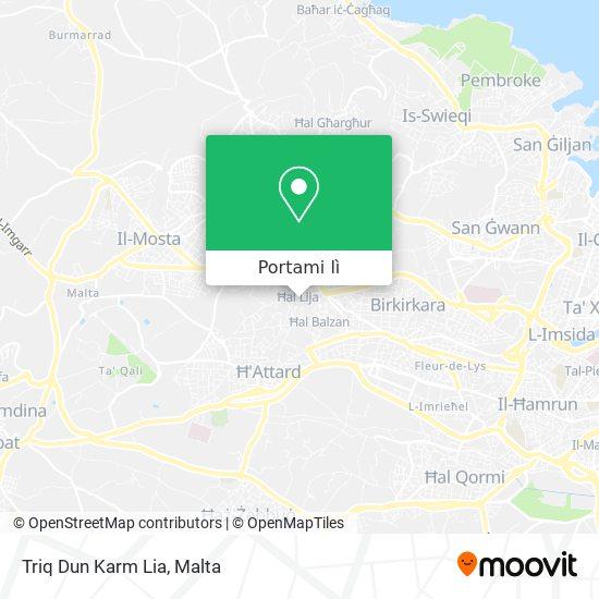 Mappa Triq Dun Karm Lia