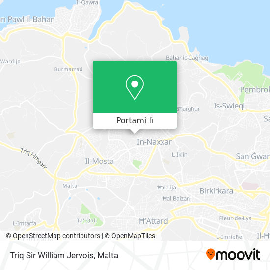 Mappa Triq Sir William Jervois