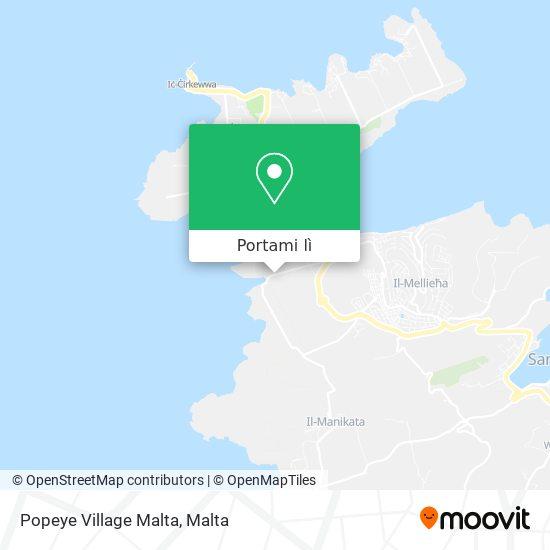 Mappa Popeye Village Malta