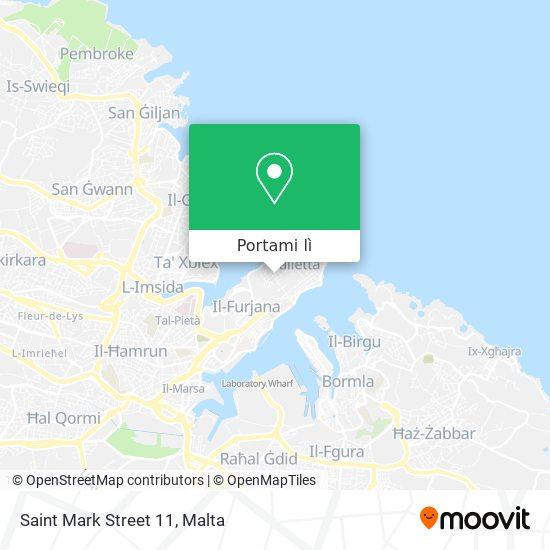 Mappa Saint Mark Street 11