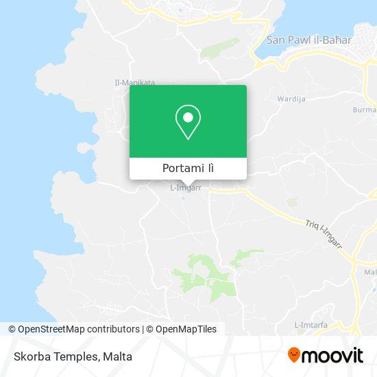Mappa Skorba Temples