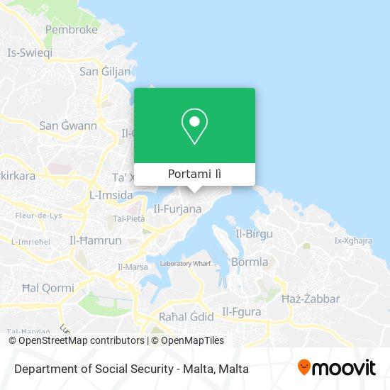 Mappa Department of Social Security - Malta