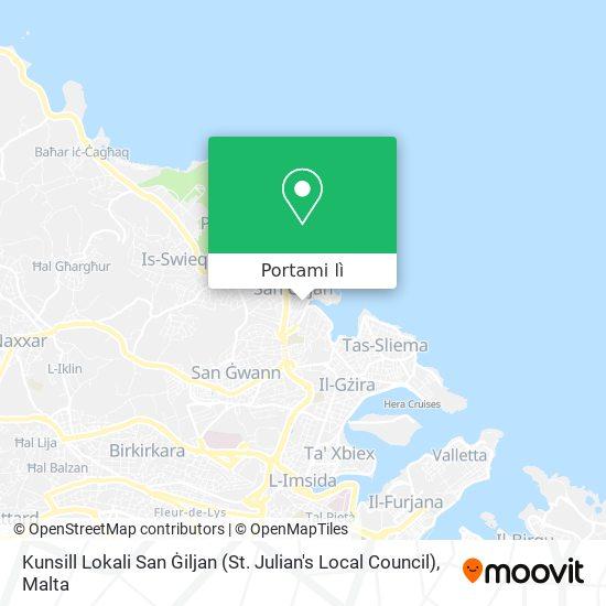 Mappa Kunsill Lokali San Ġiljan (St. Julian's Local Council)