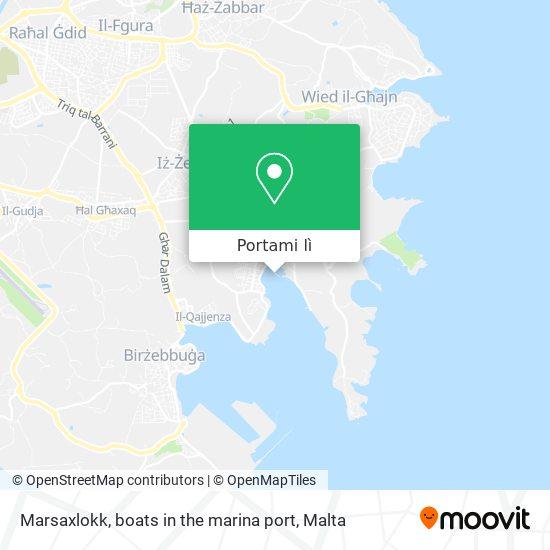Mappa Marsaxlokk, boats in the marina port