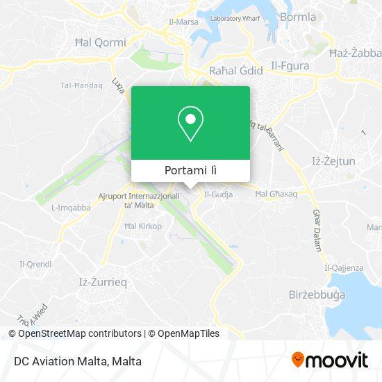 Mappa DC Aviation Malta
