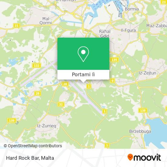 Mappa Hard Rock Bar