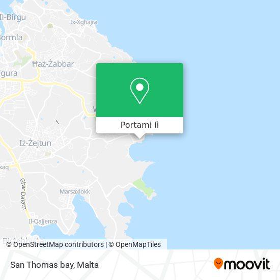 Mappa San Thomas bay