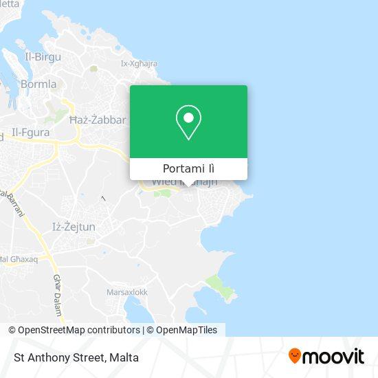 Mappa St Anthony Street