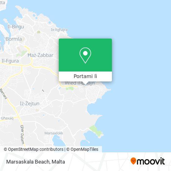 Mappa Marsaskala Beach