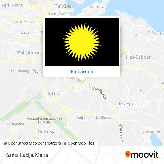 Mappa Santa Luċija