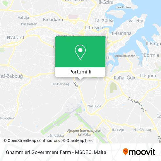 Mappa Ghammieri Government Farm - MSDEC