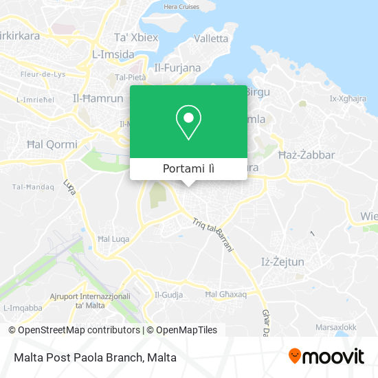 Mappa Malta Post Paola Branch