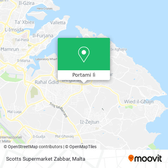 Mappa Scotts Supermarket Zabbar