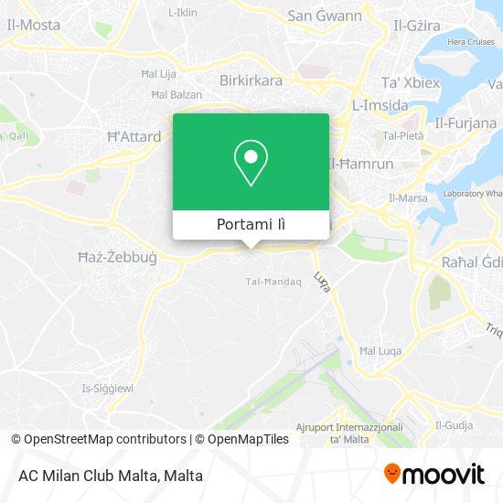 Mappa AC Milan Club Malta