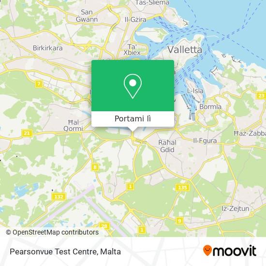 Mappa Pearsonvue Test Centre