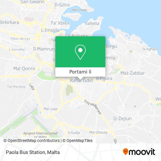 Mappa Paola Bus Station