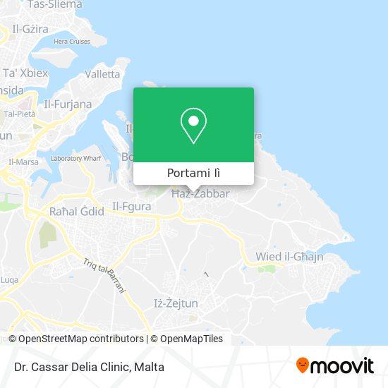 Mappa Dr. Cassar Delia Clinic