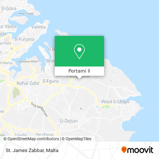 Mappa St. James Zabbar
