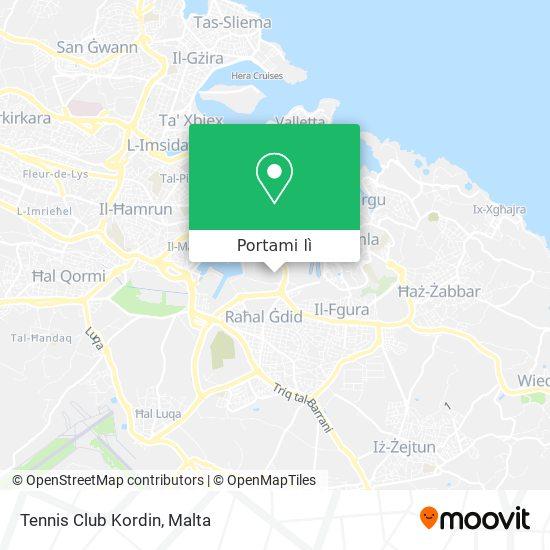 Mappa Tennis Club Kordin