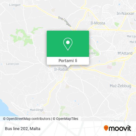 Mappa Bus line 202