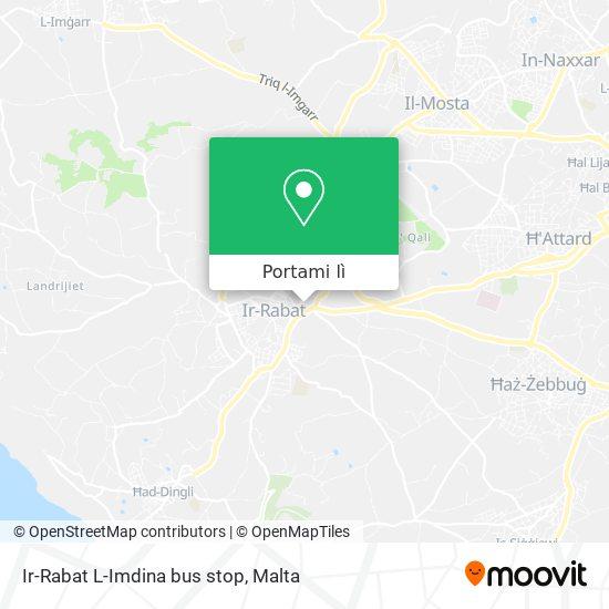 Mappa Ir-Rabat L-Imdina bus stop