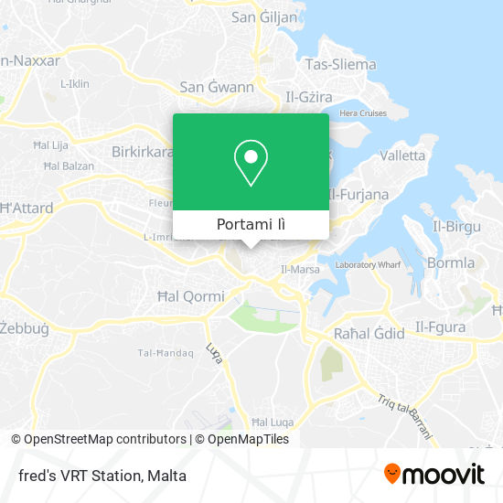 Mappa fred's VRT Station