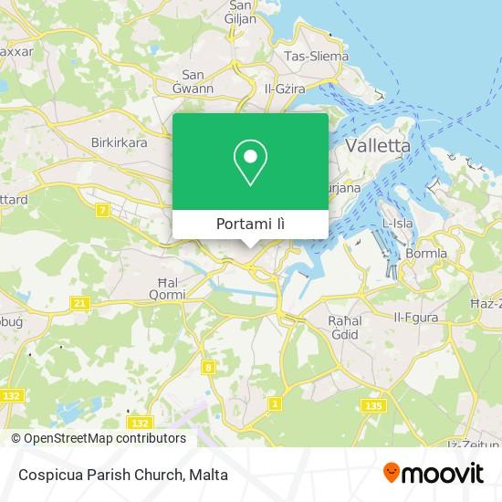 Mappa Cospicua Parish Church