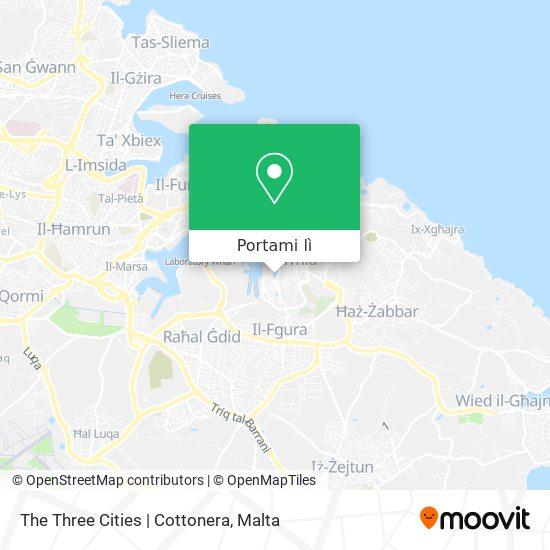 Mappa The Three Cities | Cottonera
