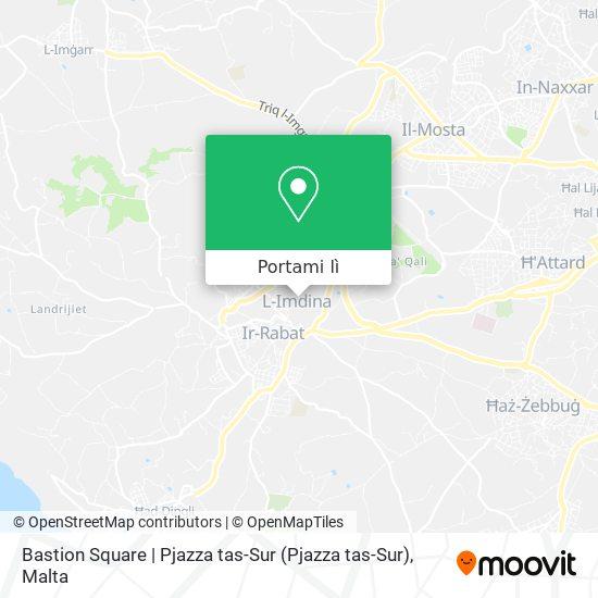 Mappa Bastion Square   Pjazza tas-Sur