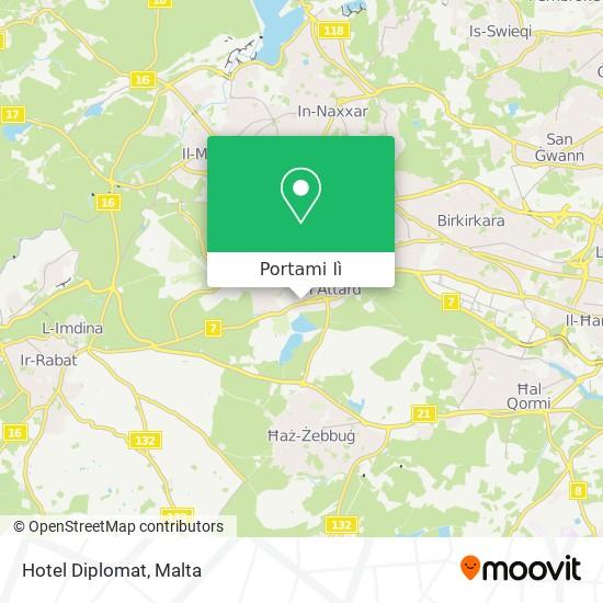 Mappa Hotel Diplomat