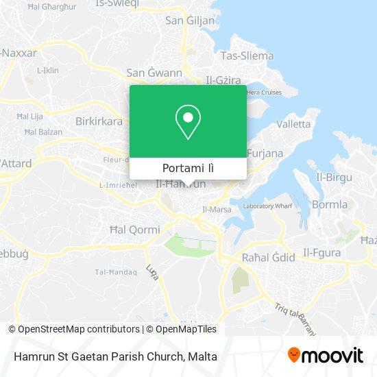 Mappa Hamrun St Gaetan Parish Church