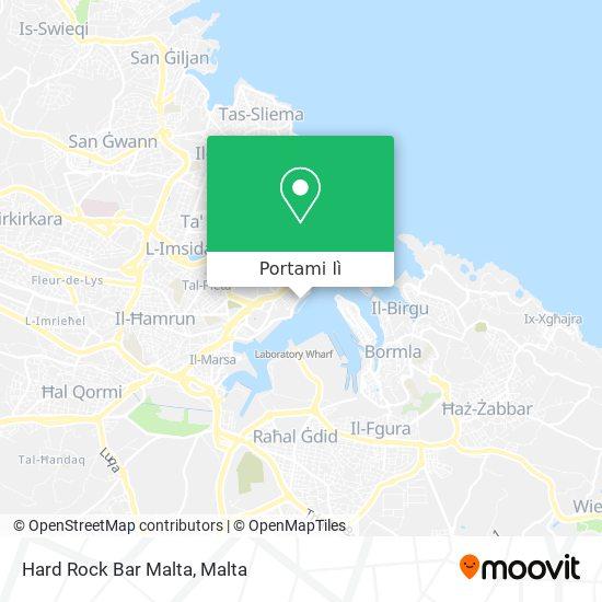Mappa Hard Rock Bar Malta