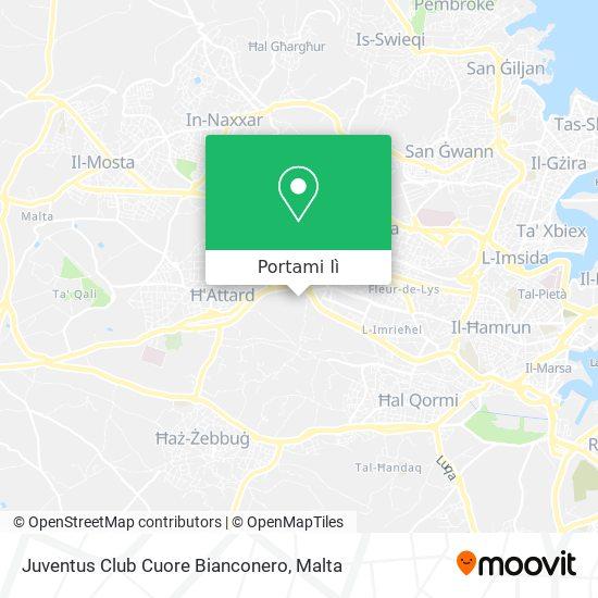Mappa Juventus Club Cuore Bianconero