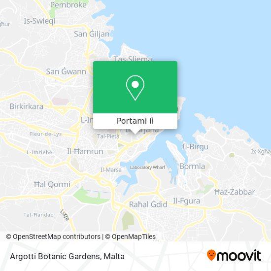 Mappa Argotti Botanic Gardens