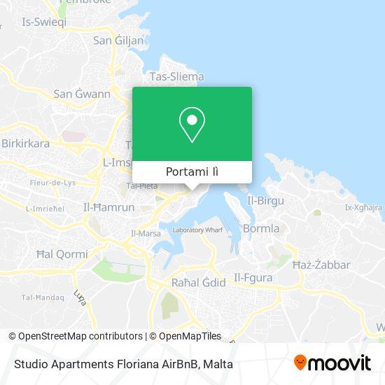 Mappa Studio Apartments Floriana AirBnB