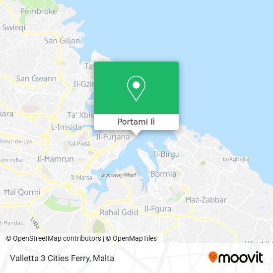 Mappa Valletta 3 Cities Ferry
