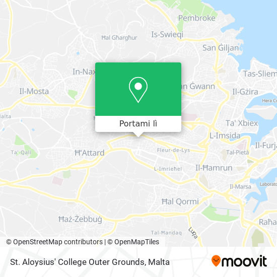 Mappa St. Aloysius' College Outer Grounds