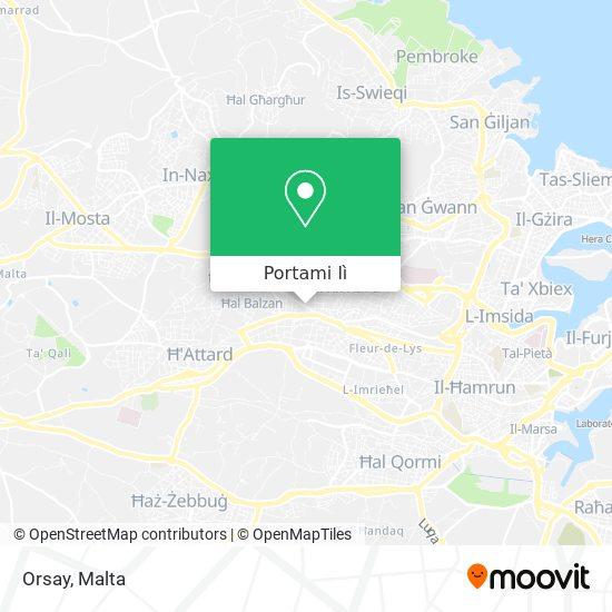Mappa Orsay
